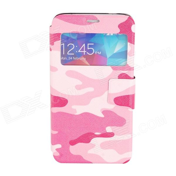 Elonbo J10D4 protettiva PU Leather Case Cover Stand per Samsung Galaxy S5 - bianco + rosa + rosa