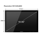 Huion GT-190 Pen Display Graphics Monitor with Digital Pen for Professionals - Black