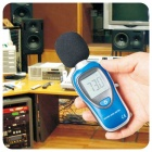 "MT-901A 1.7"" LCD Portable Digital 30~130dB Sound Level Meter Noise Tester - Black + Blue (1 x 9V)"