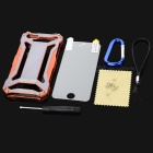 R-JUST Ultra-thin Aluminum Alloy Protective Back Case for IPHONE 5 / 5S - Grey + Orange