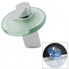 Phasat LED-Y Messing + Glas Wasserfall Fließende Basin Tap - Silber