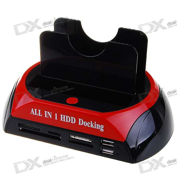 "All-in-1 Dual HDD dokovací stanice s One Touch Backup pro 2,5 ""/ 3,5"" SATA HDD"