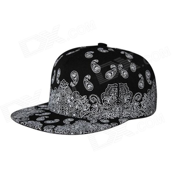 Moda Outdoor Canvas Berretto da baseball Hip-Hop di stile del cappello - nero + bianco