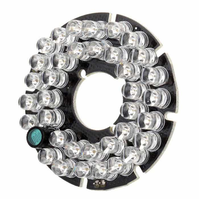 Infrared 35-LED Illuminator Board Plate for 6mm Lens CCTV Security Camera