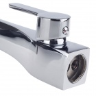 BY-2036 Fashion Stainless Steel Dual Hole Cold / Hot Kitchen Faucet - Silver