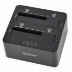 ORICO 6629US3-C-BK USB 3.0 Dual-Slot 3,5-tommers/2,5-tommers SATA HDD Docking - svart