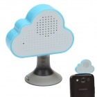 HAPTIME YGH-516 3.5mm Jack Mobile Speaker w/ Suction Cup Stand - White + Light Blue
