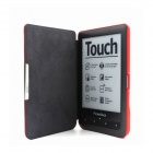Protective PU Leather Flip Magnetic Slim Case Cover for Pocketbook Touch 622 / 623 - Red