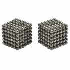 3mm DIY Magnet Balls Educational Toys Set - Silver Black (432 PCS)