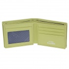 C.S.C LL226BPO Men's Fashion Top-Layer Cowhide Leather Wallet - Green