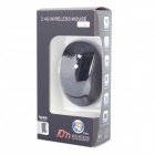 2.4GHz Wireless High-Frequency 800/1200/1600dpi Optical Mouse - Black (2 x AAA)