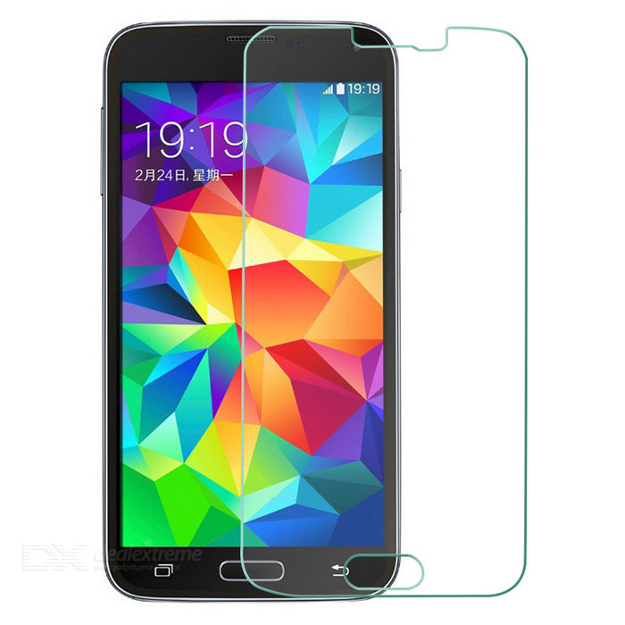 Buy Tempered Glass Screen Film Guard for Samsung Galaxy S5 - Transparent with Litecoins with Free Shipping on Gipsybee.com