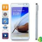 "W-5000 Android 4.3 Quad-core WCDMA Bar Phone w/ 5.0"" Screen, Wi-Fi and GPS - White"