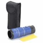 16 x 52 Handy Portable 16X Monocular Single-tube Telescope w/ Compass - Blue + Black