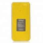 Protective PC Slide Dual Back Cases for IPHONE 5 / 5S - Yellow + Translucent
