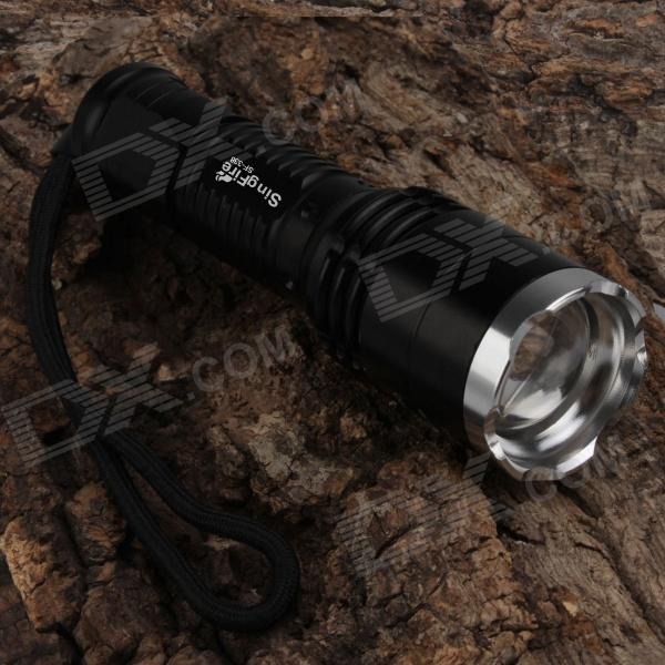 SingFire SF-338 LED 800lm 5-Mode White Zooming Flashlight - Black (1 x 18650)