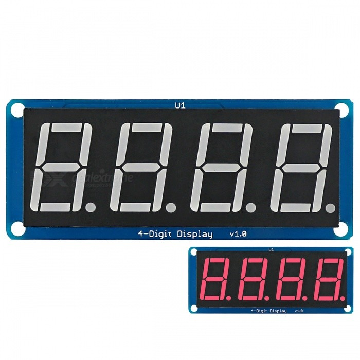 "Dx coupon: 0.56"" LED 4-Digit Display (D4056A) Module w/Decimal Point for Arduino"