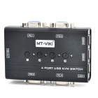 MT-460KL 4-Port USB KVM Manual Switcher - Zwart