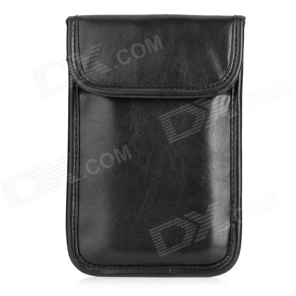 Protective Universal Radiation Protection Shielded PU Pouch Bag for Cellphone - BlackBags &amp; Pouches<br>Form ColorBlackBrandN/AModelD71MaterialPUQuantity1 DX.PCM.Model.AttributeModel.UnitShade Of ColorBlackCompatible ModelsSamsung Note 2 / Note 3, IPHONE 5S and moreOther FeaturesShield rate: 80dB; Efficiency: 99%; This pouch has two pockets: one can shield cellphone signal and avoid tracking your phone; the other one is normal protective pocket.Packing List1 x Pouch1 x English / Chinese manual<br>