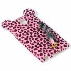 Leopard Print Pattern Protective Plastic Back Case w/ Tail for Samsung Galaxy Note 3 - Pink