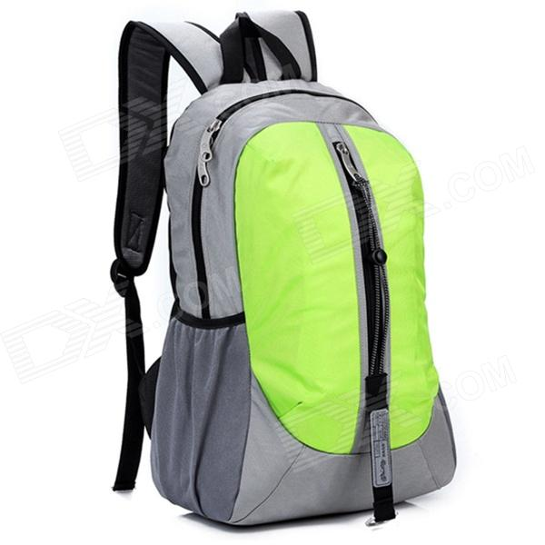 LKLR 001 Outdoor Sports Nylon Backpack - Green + Grey (25L)