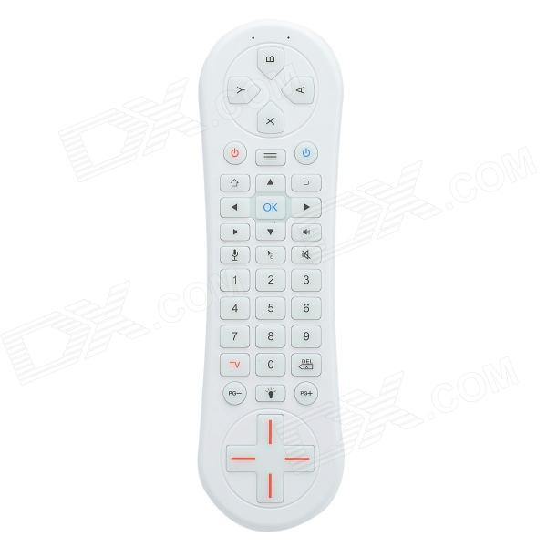CHEERLINK MX8-M 2.4G 38-Key 6-Axis Wireless Somatosensory Air Mouse One-way Audio Version - White