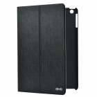Devia Fashionable Cross Pattern Protective PU Leather Case Cover Stand for IPAD AIR - Black