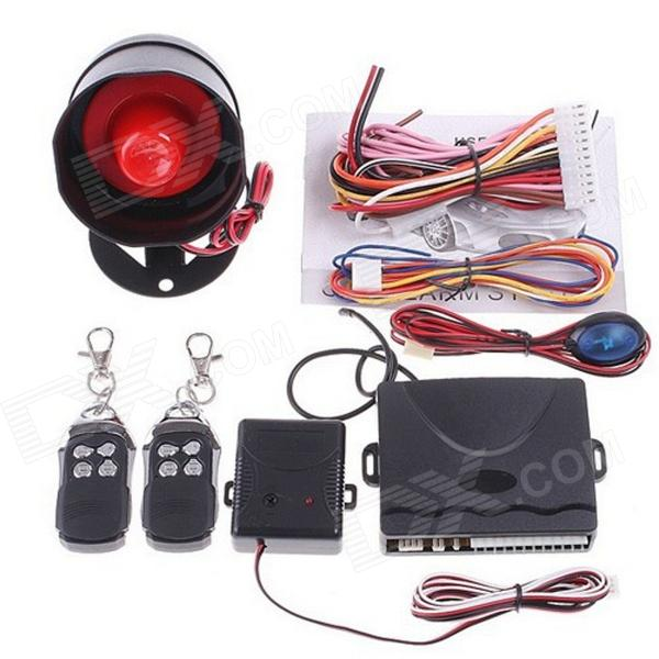1-Way 315MHz Car Burglar Alarm System - Black