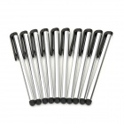Universal Touch Capacitive Screen Stylus w/ Clip - Silver (10 PCS)