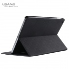 USAMS Protective PU + PC Case w/ Stand for IPAD AIR - Black