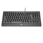 JXJP USB kablet 87-Key Cherry MX Blue Switch Mekanisk Tastatur-Mørk Grå