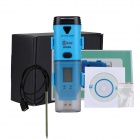 BSIDE BTH05 USB 3-Channels Temperature Humidity Data Logger w/ Display + Probe - Black + Blue