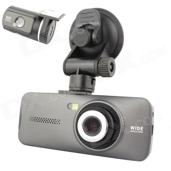 "AT970 2.7"" FULL HD 1080P 5.0MP CMOS + 1.3MP Car DVR Camcorder w/ HDMI / Rearview - Ash Black"