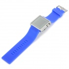 ShiFenMei Zinc Alloy Casing Silicone Wristband 1.3'' LCD Digital Blue LED Wrist Watch (1 x CR2032)