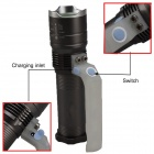 SingFire SF-341C LED 800lm 3-Mode White Zooming Flashlight - Grey (1 x 18650 / 3 x AA)