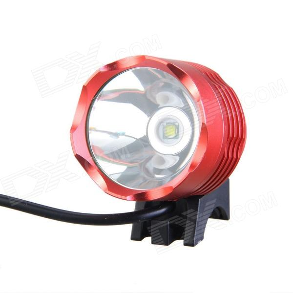 KINFIRE KT-30 LED 700lm 3-Mode White Bicycle Light - Red