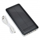 "S-What Solar Powered Dual-USB ""12800mAh"" External Li-polymer Battery Charger Power Bank - Black"