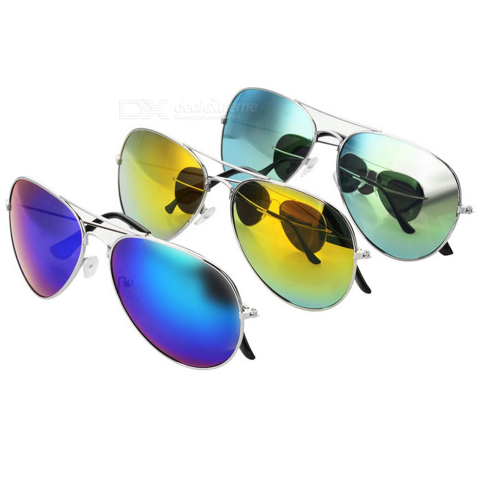 Buy Stylish Sunblock Sunglasses Goggles - Green + Blue + Red (3PCS) with Litecoins with Free Shipping on Gipsybee.com