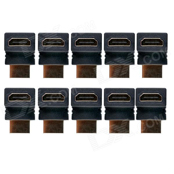 ZSCH High Quality Professional 90 Degree Right Angle HDMI Male to Female Adapter - Black (10 PCS)AV Adapters And Converters<br>Form  ColorBlackModelZSCHMaterialPlastic + CopperQuantity10 DX.PCM.Model.AttributeModel.UnitShade Of ColorBlackConnectorHDMIPacking List10 x Adapters<br>