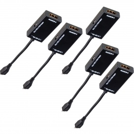 ZSCH-High-Quality-Professional-Micro-USB-Male-to-HDMI-Female-MHL-Adapter-Cable-Black-(5-PCS)