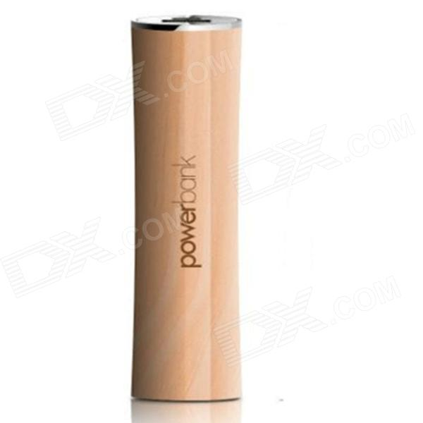 IDOMAX MD02 Eco Friendly Original Wood Portable 2600mAh Power Source Bank for IPHONE + More - Wood