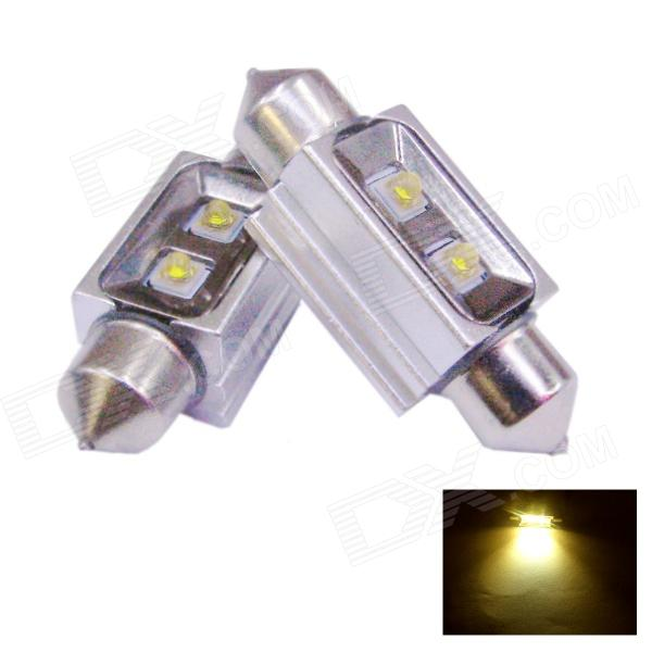 D&Z S362-10NW Festoon 36mm 200LM 3200K Warm White Decoded LED Licence Plate Lamp for Car (2 PCS)