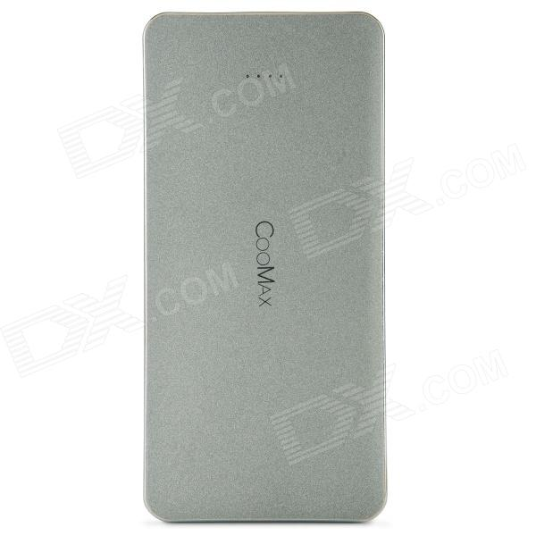 COOMAX C6 12000mAh Dual-USB transportabel makt kilde Bank for IPHONE / Samsung + mer - Gary
