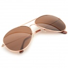 Cqda Fashionable PC Frame Resin Lens UV400 Protection Sunglasses - Golden + Tawny