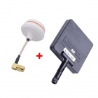 5.8G 11dBi 200mW Panel Antenne m / 5.8G Right Angle TX-SMA Female Antenna Gevinst for FPV