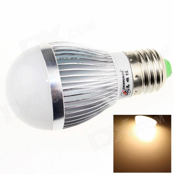 ZHISHUNJIA E27 8W 680lm 3000K 16 x SMD 5630 LED Warm White Light Bulb - Silver + White (85~265V)E27<br>Form  ColorSilver + WhiteColor BINWarm WhiteBrandZHISHUNJIAModelE27 8W Light BulbMaterialAluminum alloyQuantity1 DX.PCM.Model.AttributeModel.UnitPower8WRated VoltageAC 85-265 DX.PCM.Model.AttributeModel.UnitConnector TypeE27Chip BrandOthers,SamsungChip Type5630Emitter TypeLEDTotal Emitters16Theoretical Lumens720 DX.PCM.Model.AttributeModel.UnitActual Lumens680 DX.PCM.Model.AttributeModel.UnitColor Temperature3000KDimmableNoBeam Angle180 DX.PCM.Model.AttributeModel.UnitPacking List1 x LED light<br>