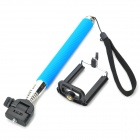 Retractable Rotary Handheld ABS + Aluminum Monopod w/ Holder for IPHONE + More - Sky Blue + Black