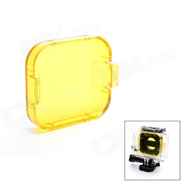 Professional Diving Housing Filter for GoPro Hero 3 - YellowLenses &amp; Lenses Accessories<br>Form  ColorYellowBrandJUSTONEModelJ032MaterialPlasticQuantity1 DX.PCM.Model.AttributeModel.UnitCompatible BrandGoPro HeroCompatible ModelsHero 3 HousingLens DiameterOthersOther FeaturesThis is the PC Under Sea Filter Cover or protect the ring.Shade Of ColorYellowCompatible ModelsOthers,GoPro Hero 3Packing List1 x Filter<br>