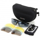 FAXIANZHE TS001 Outdoor Sports UV400 Cycling Goggles Set - Black + Grey