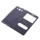 Protective PU Leather Case Cover w/ Visual Window for Samsung Galaxy S3 i9300 - Deep Blue
